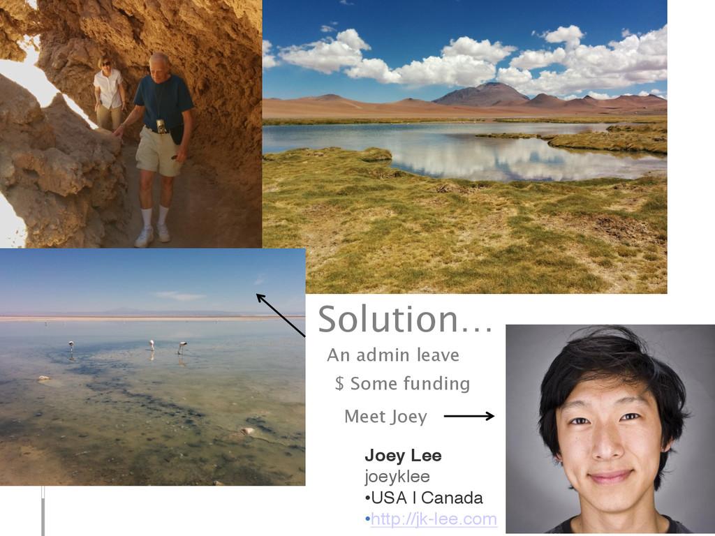 Solution… Joey Lee joeyklee •USA | Canada •h...