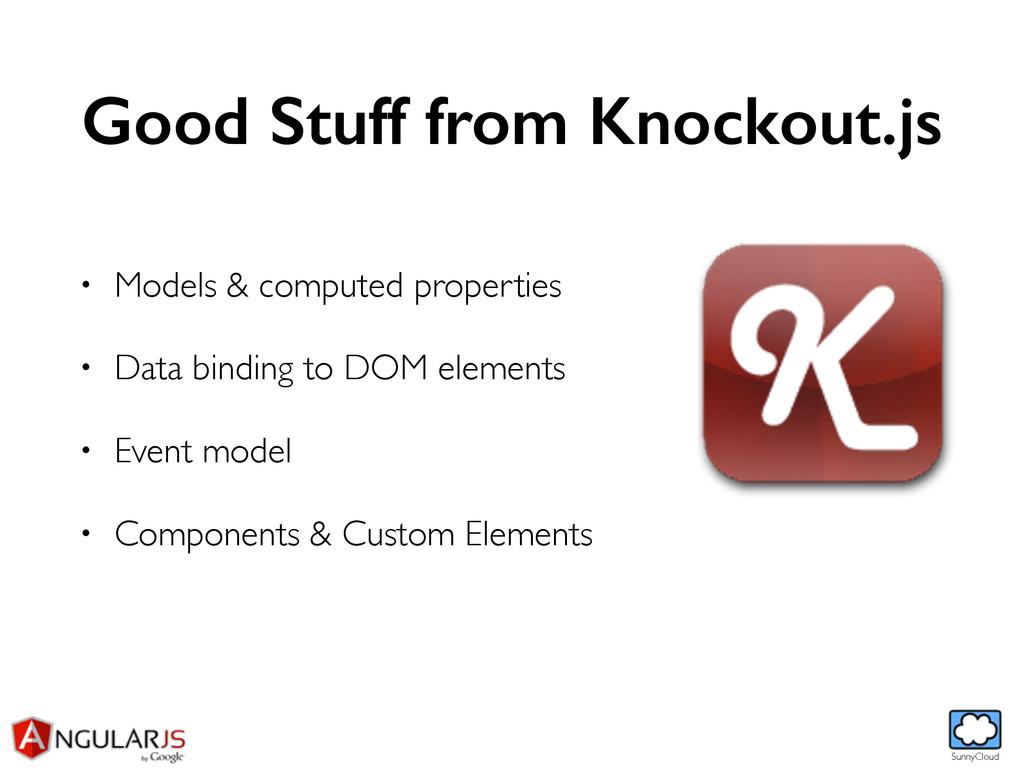 SunnyCloud Good Stuff from Knockout.js • Models...