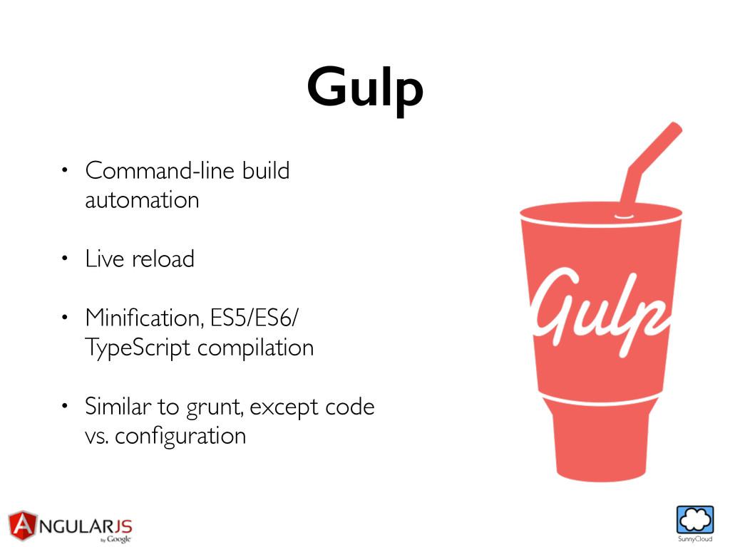SunnyCloud Gulp • Command-line build automation...