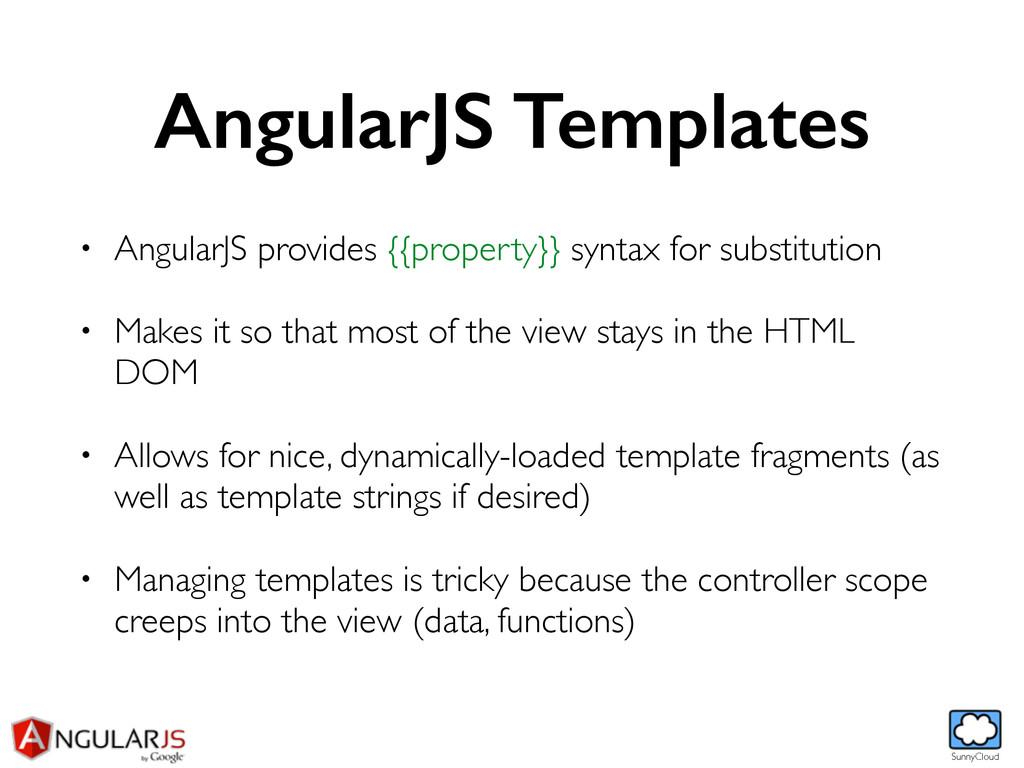 SunnyCloud AngularJS Templates • AngularJS prov...