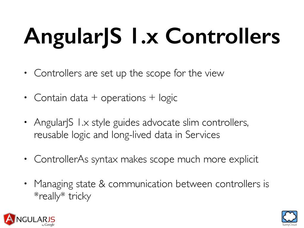 SunnyCloud AngularJS 1.x Controllers • Controll...