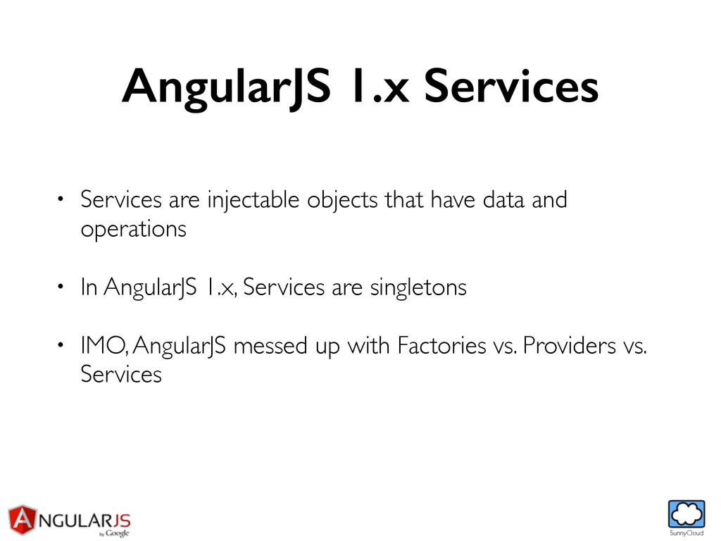 SunnyCloud AngularJS 1.x Services • Services ar...