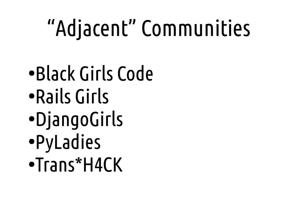 """Adjacent"" Communities ● Black Girls Code ● Rai..."