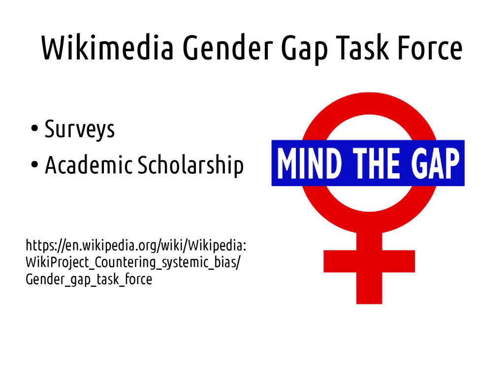 Wikimedia Gender Gap Task Force ● Surveys ● Aca...
