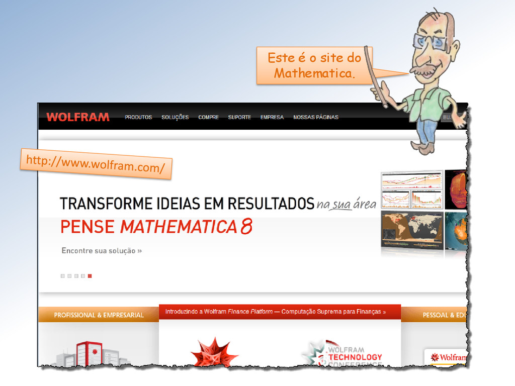 Este é o site do Mathematica.