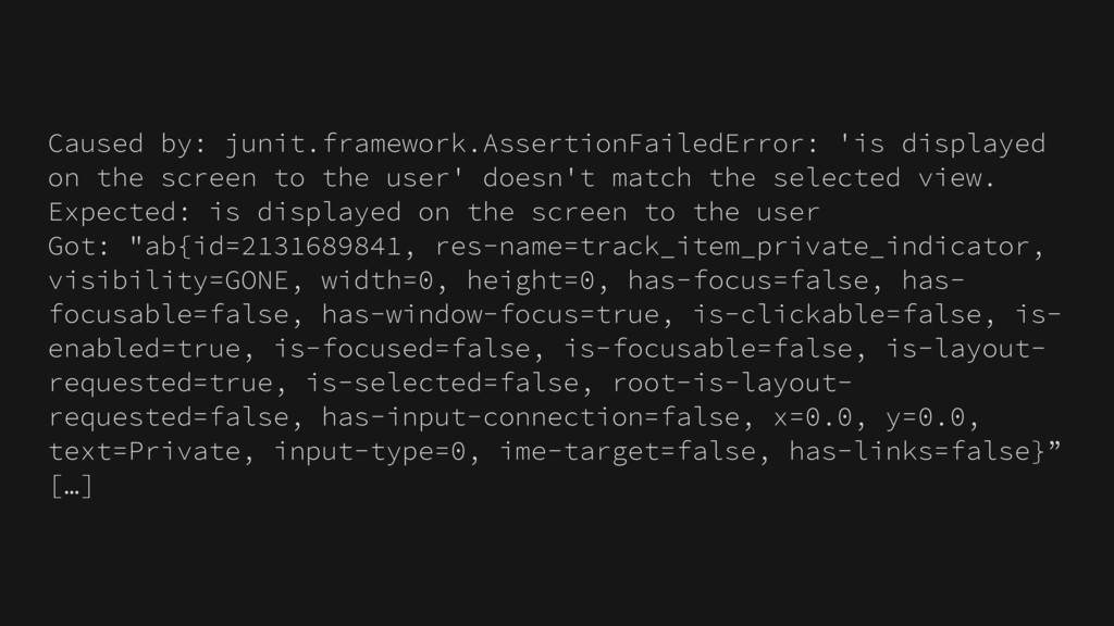 Caused by: junit.framework.AssertionFailedError...