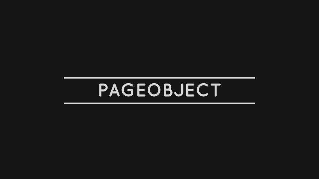 PAGEOBJECT