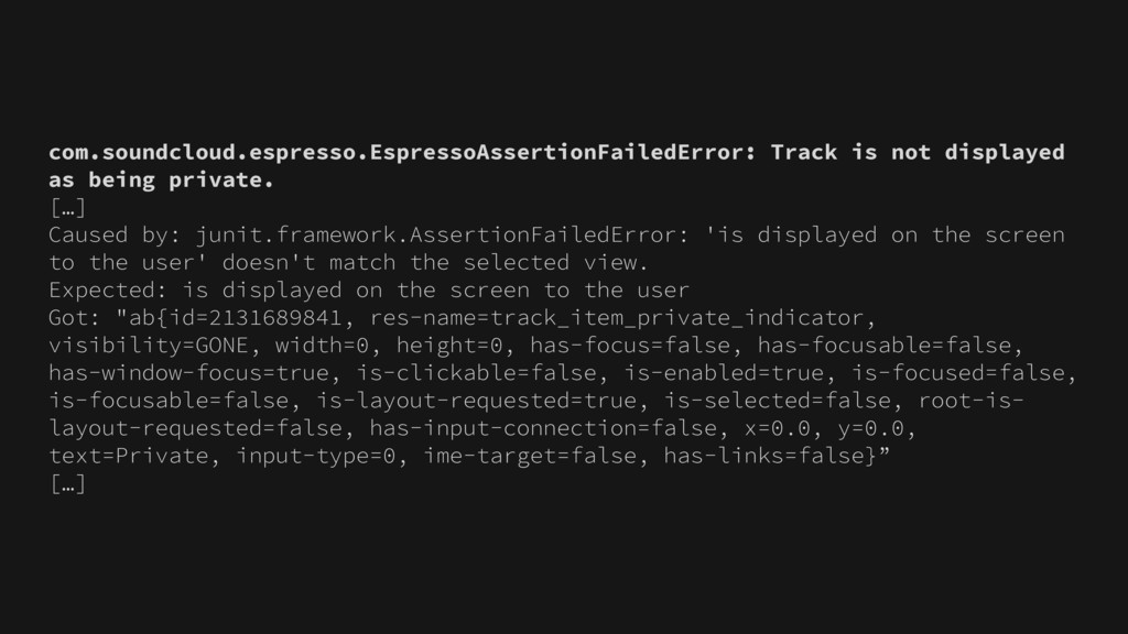 com.soundcloud.espresso.EspressoAssertionFailed...