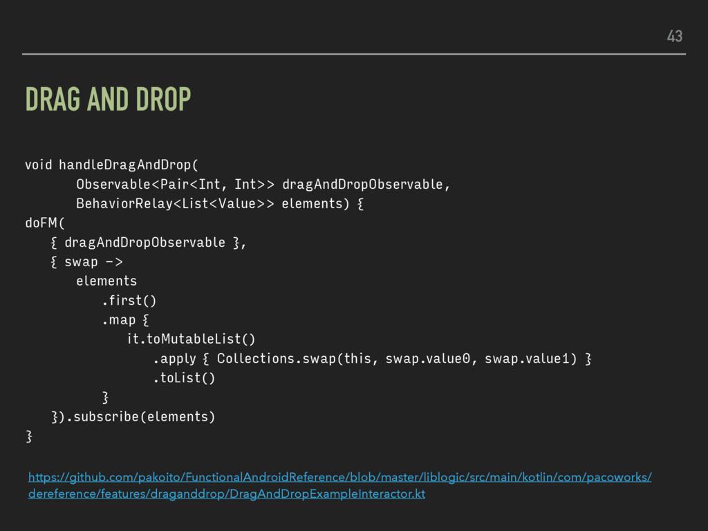 DRAG AND DROP void handleDragAndDrop( Observabl...