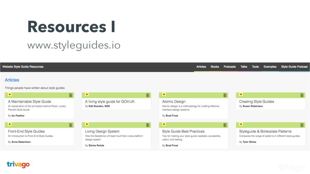 Resources I www.styleguides.io This is the fro...