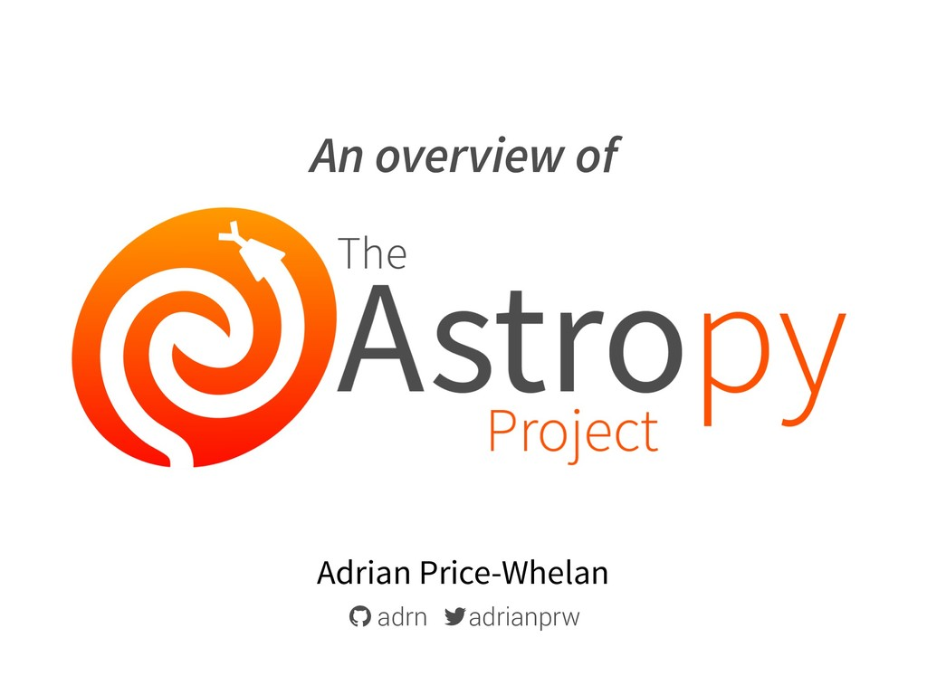 """An overview of Adrian Price-Whelan ! adrn """" adr..."""