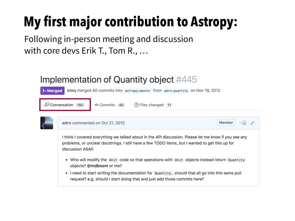 My first major contribution to Astropy: Followin...