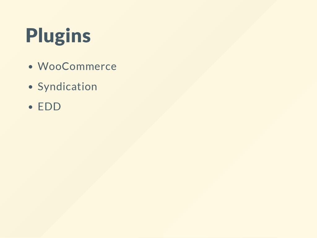 Plugins WooCommerce Syndication EDD