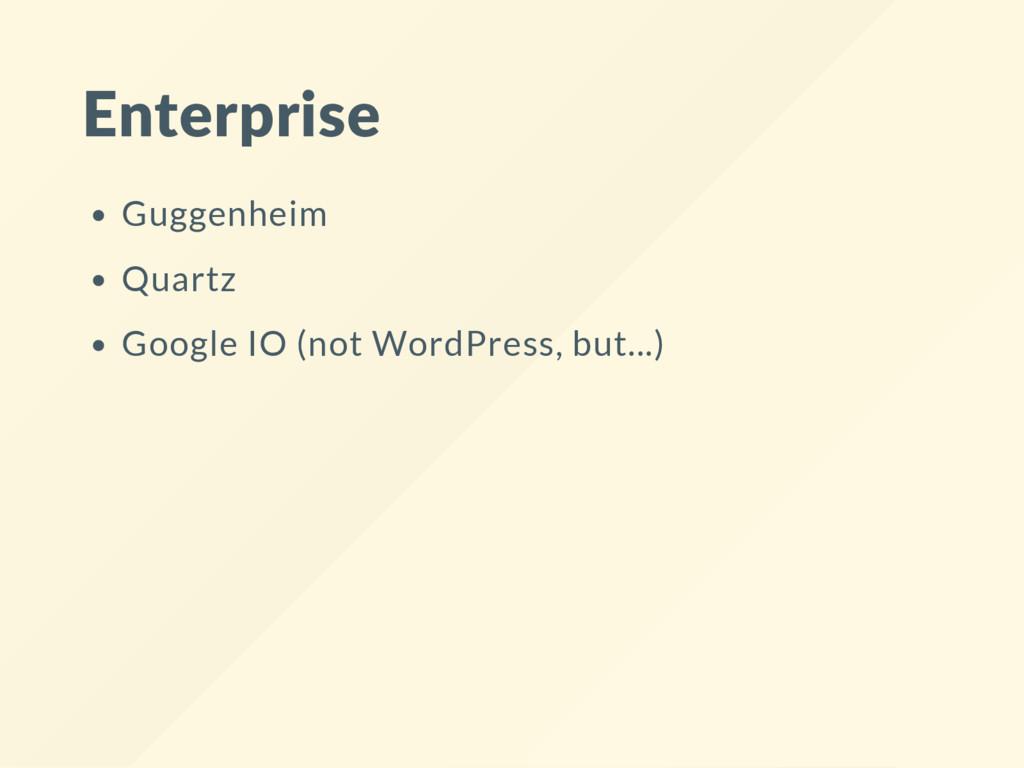 Enterprise Guggenheim Quartz Google IO (not Wor...