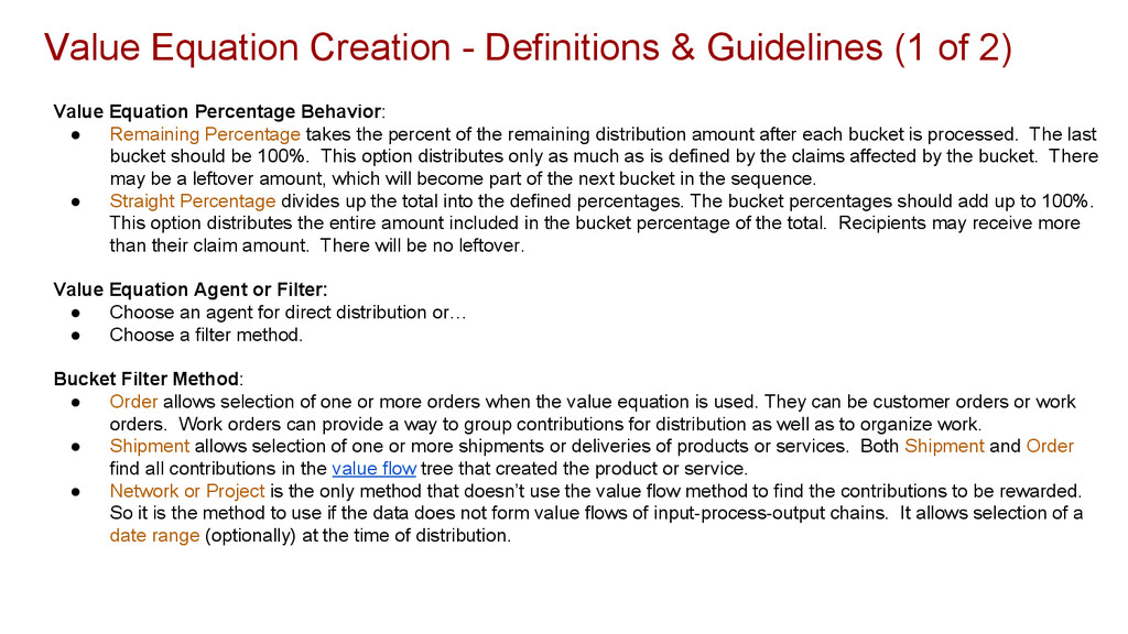 Value Equation Creation - Definitions & Guideli...