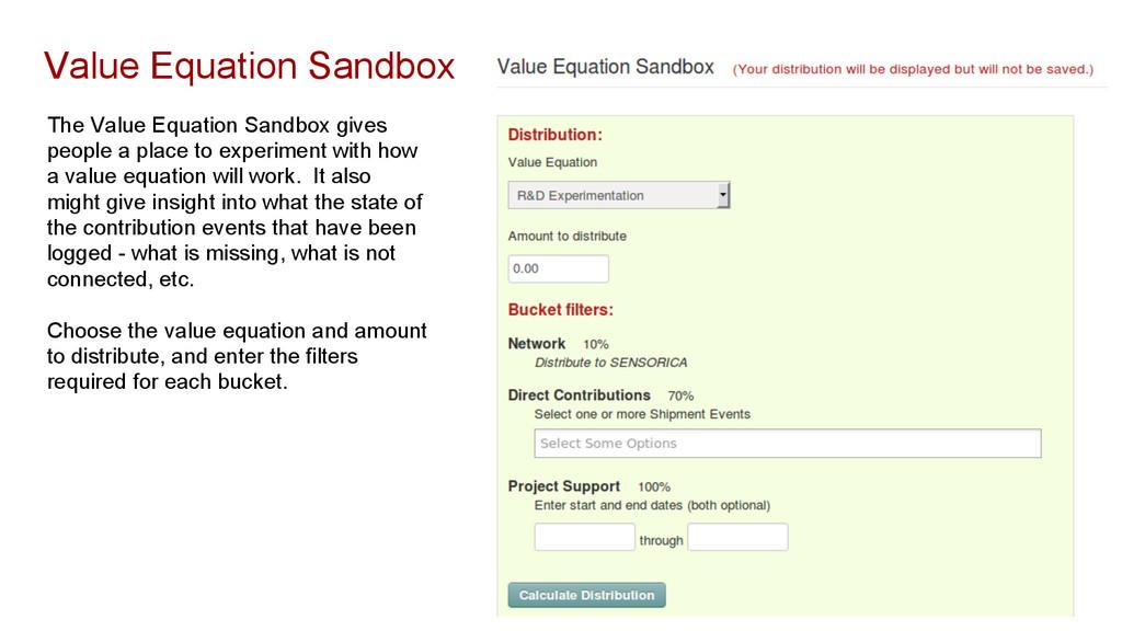 Value Equation Sandbox The Value Equation Sandb...