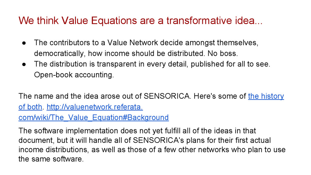 We think Value Equations are a transformative i...