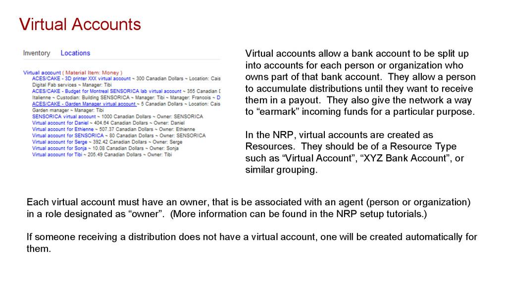 Virtual Accounts Virtual accounts allow a bank ...