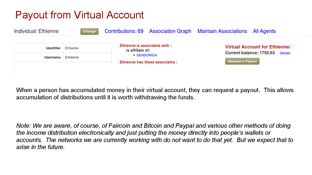 Payout from Virtual Account When a person has a...