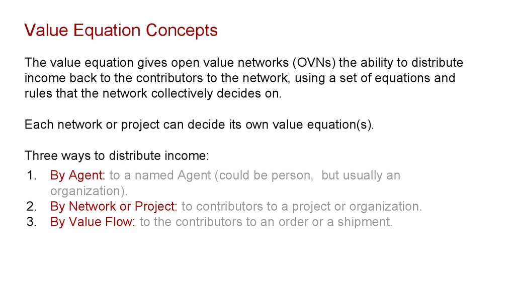 Value Equation Concepts The value equation give...
