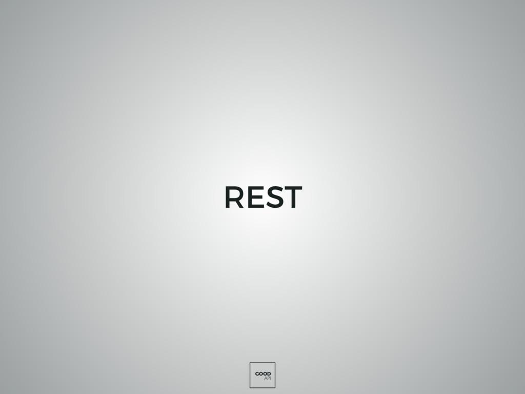 GOOD API REST