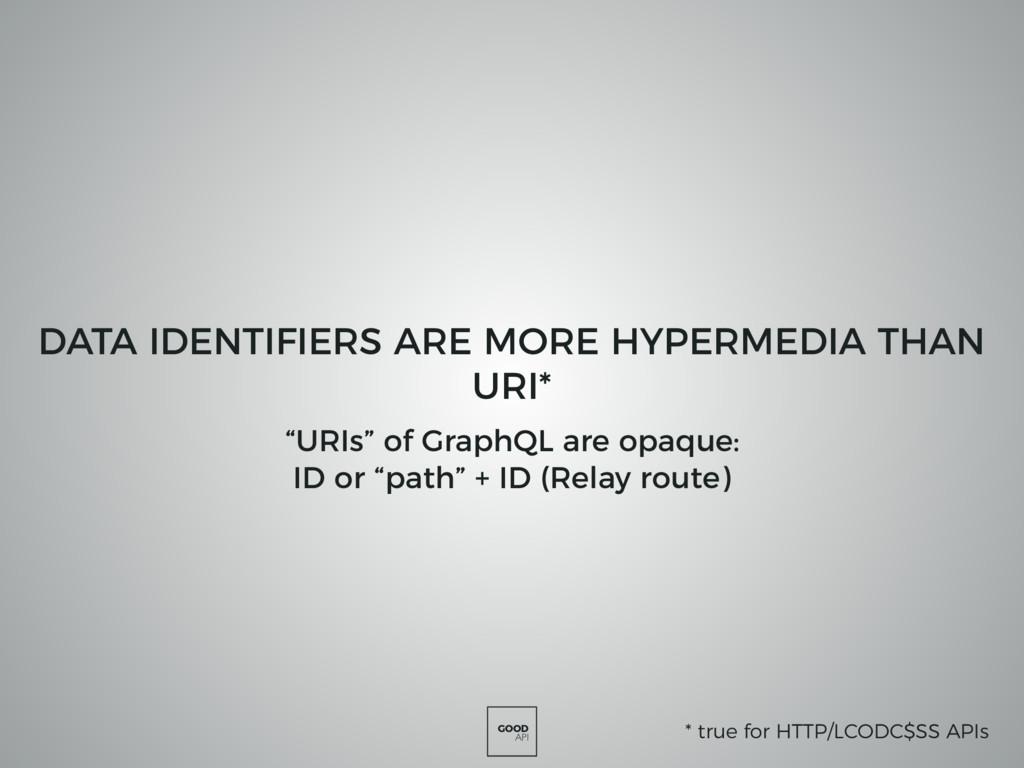 GOOD API DATA IDENTIFIERS ARE MORE HYPERMEDIA T...