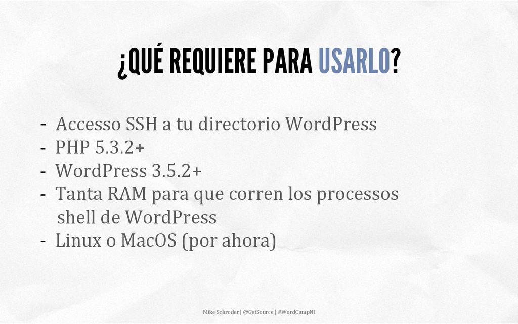 -‐  Accesso SSH a tu directo...