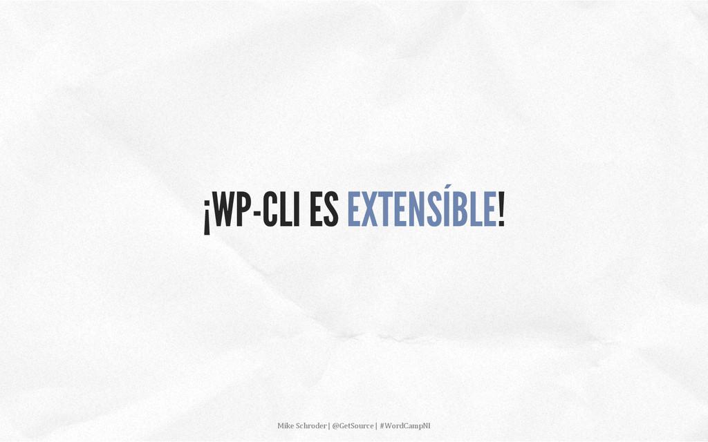 ¡WP-CLI ES EXTENSÍBLE! Mike Schroder | ...