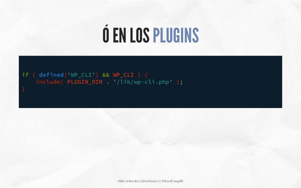 Ó EN LOS PLUGINS if ( defined('WP_CLI') && WP_C...