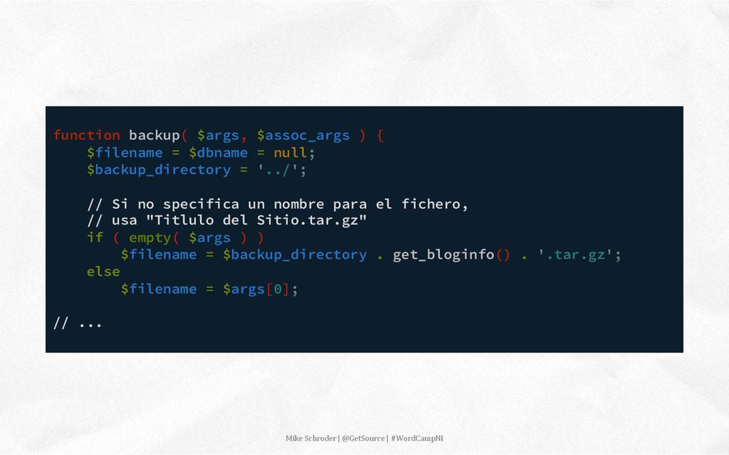 function backup( $args, $assoc_args ) { $filena...