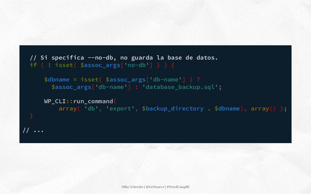 // Si specifica --no-db, no guarda la base de d...
