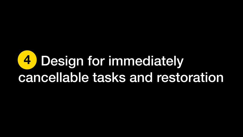 Design for immediately cancellable tasks and re...