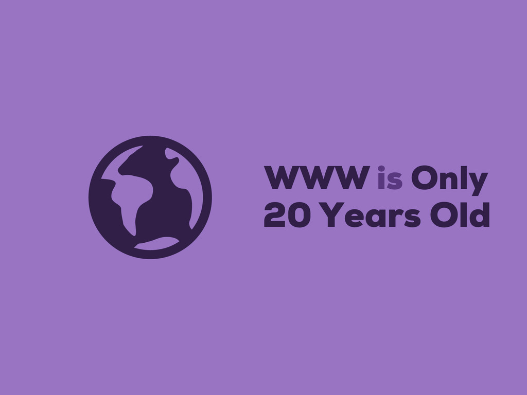 WWW is Only 20 Years Old