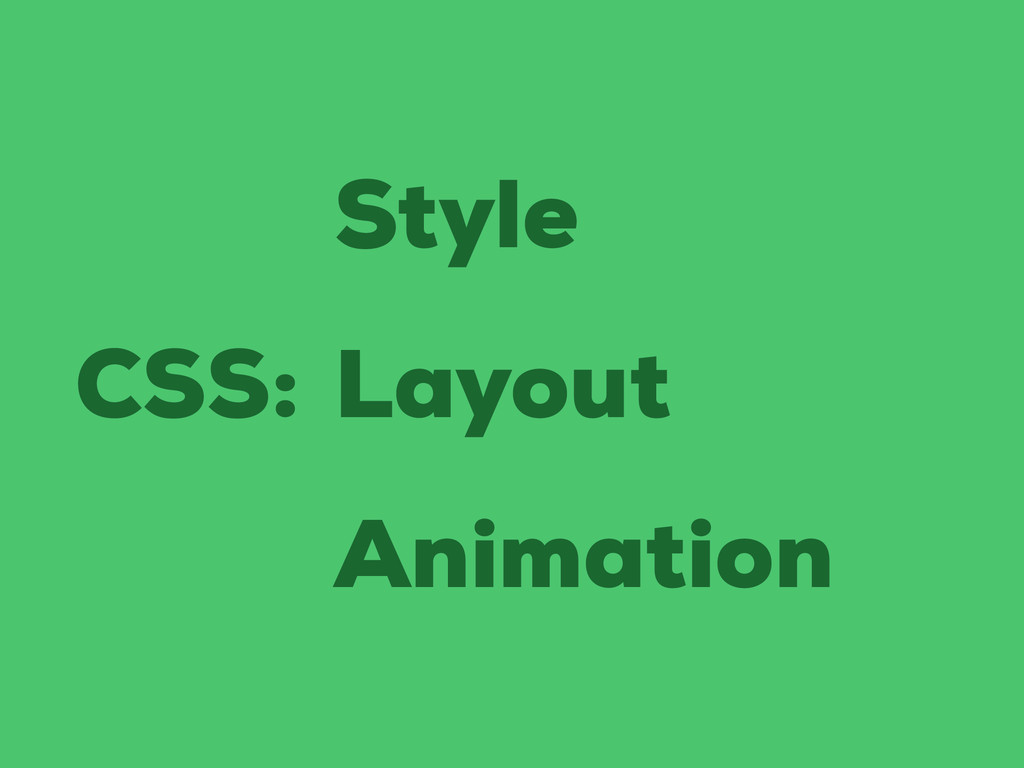 CSS: Style Layout Animation