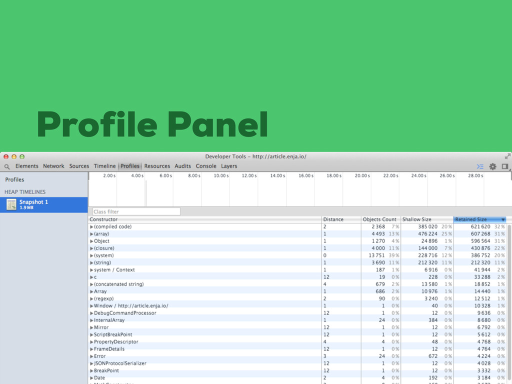 Profile Panel
