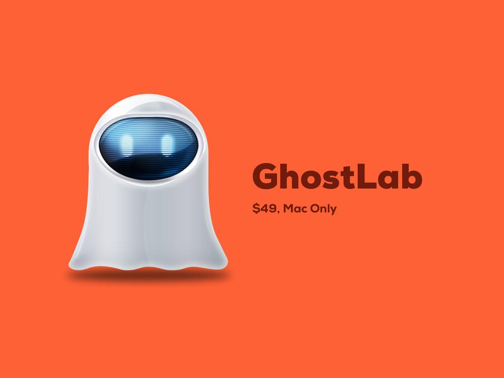 $49, Mac Only GhostLab