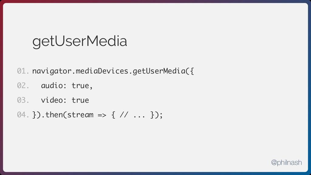 getUserMedia navigator.mediaDevices.getUserMedi...