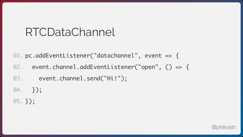 """RTCDataChannel pc.addEventListener(""""datachannel..."""