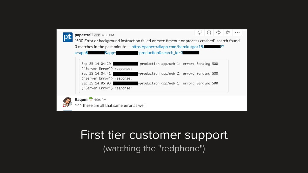 """First tier customer support (watching the """"redp..."""