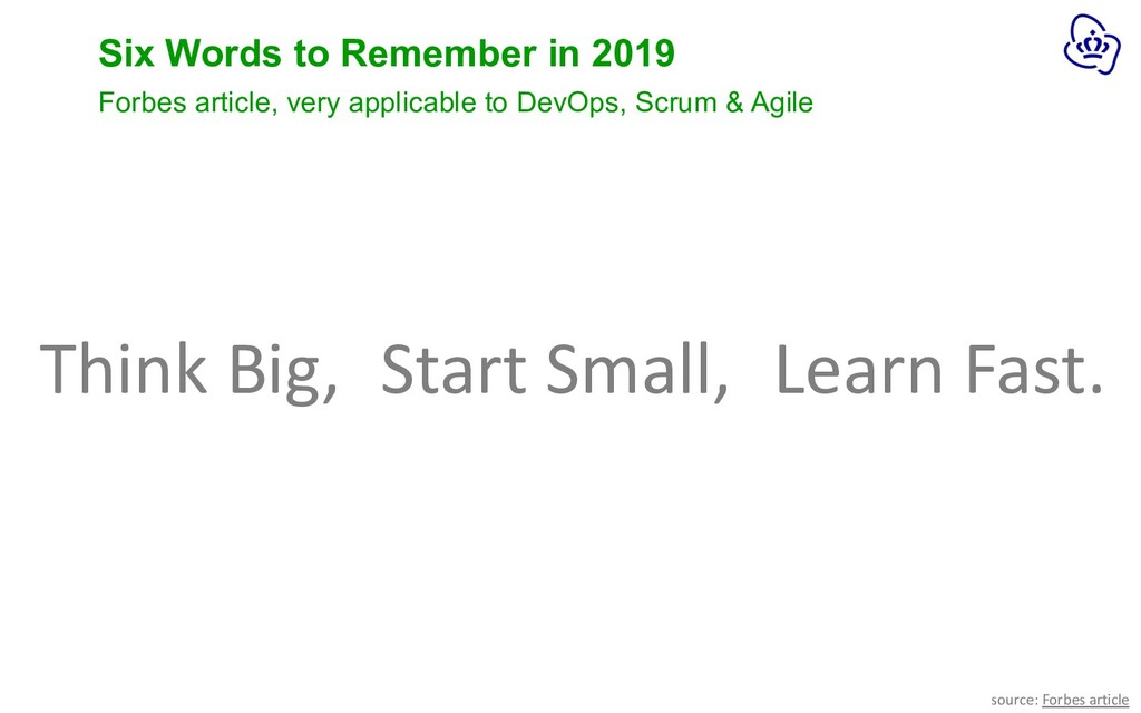 Six Words to Remember in 2019 Forbes article, v...