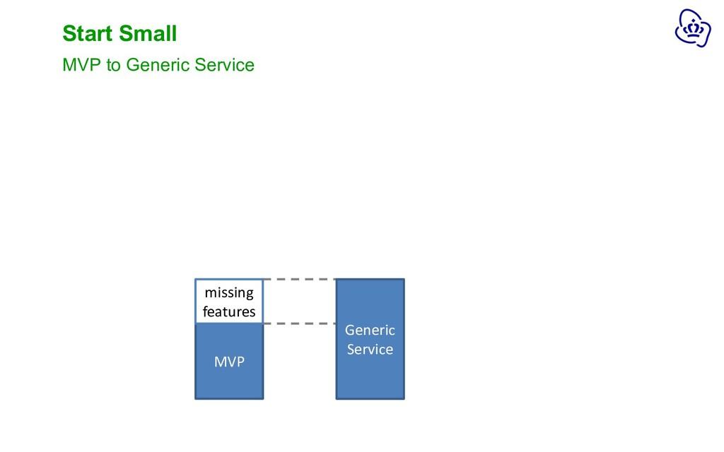 MVP Start Small MVP to Generic Service MVP miss...
