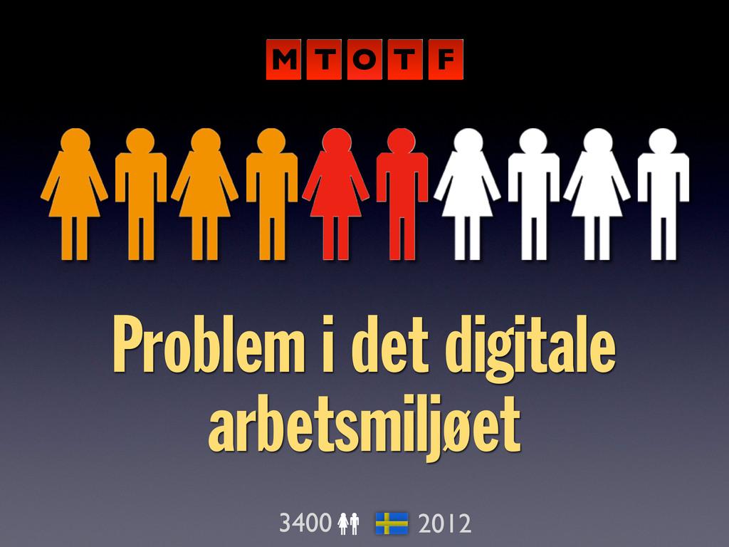 Problem i det digitale arbetsmiljøet 3400 2012 ...