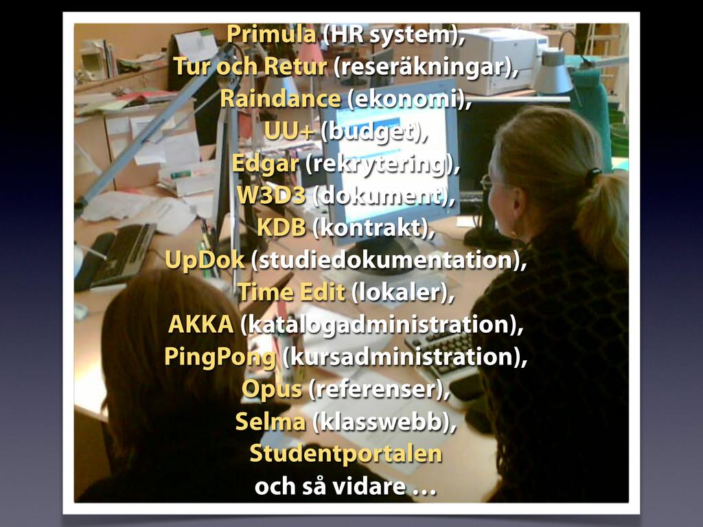 Primula (HR system), Tur och Retur (reseräkning...