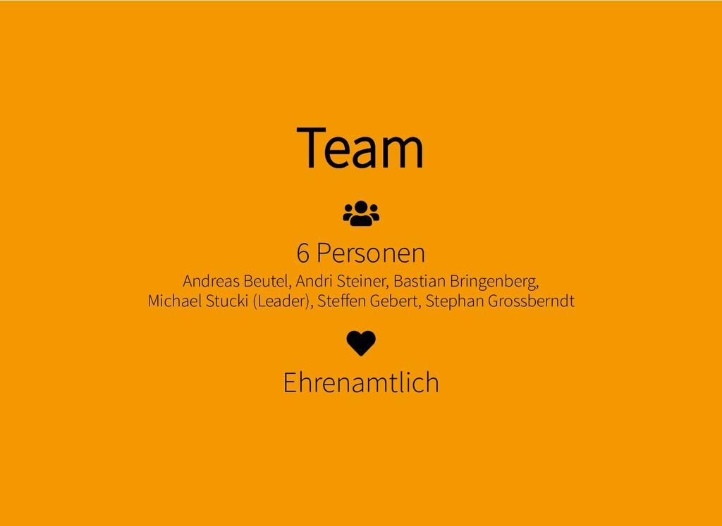 Team Team 6 Personen Andreas Beutel, Andri Stei...
