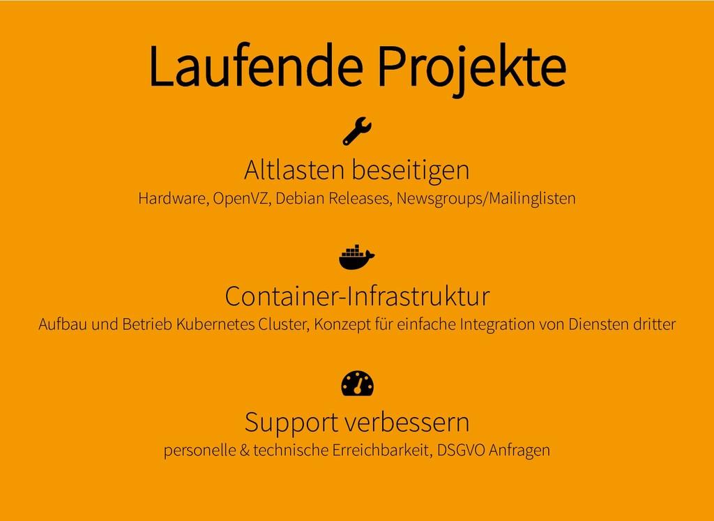 Laufende Projekte Laufende Projekte Altlasten b...