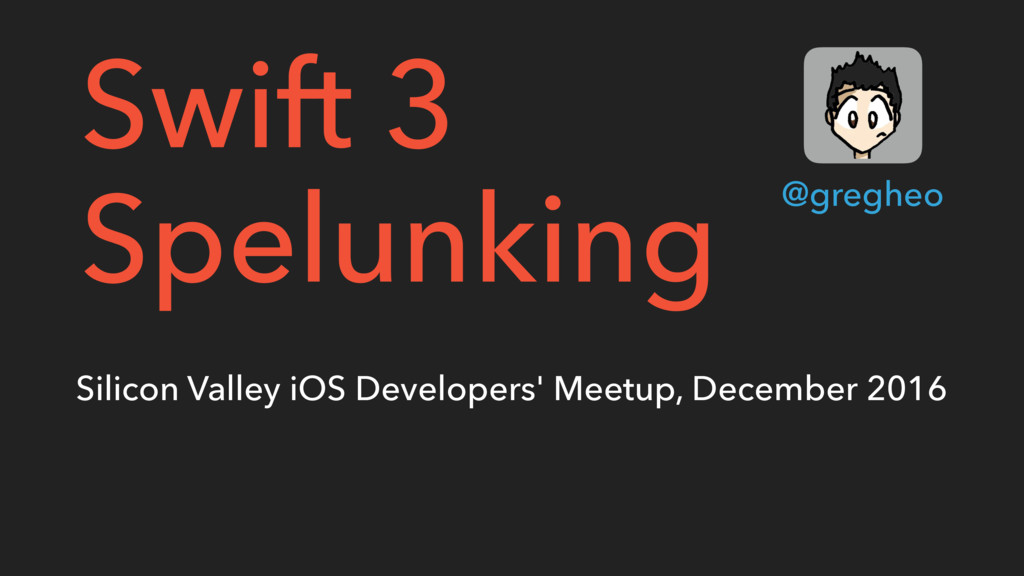 Silicon Valley iOS Developers' Meetup, December...