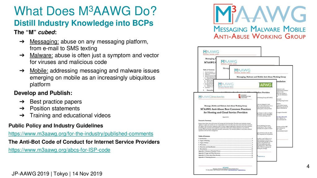 JP-AAWG 2019 | Tokyo | 14 Nov 2019 What Does M3...