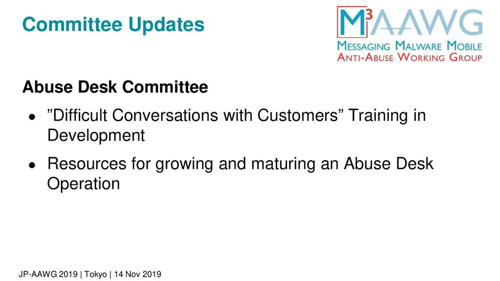 JP-AAWG 2019 | Tokyo | 14 Nov 2019 Committee Up...