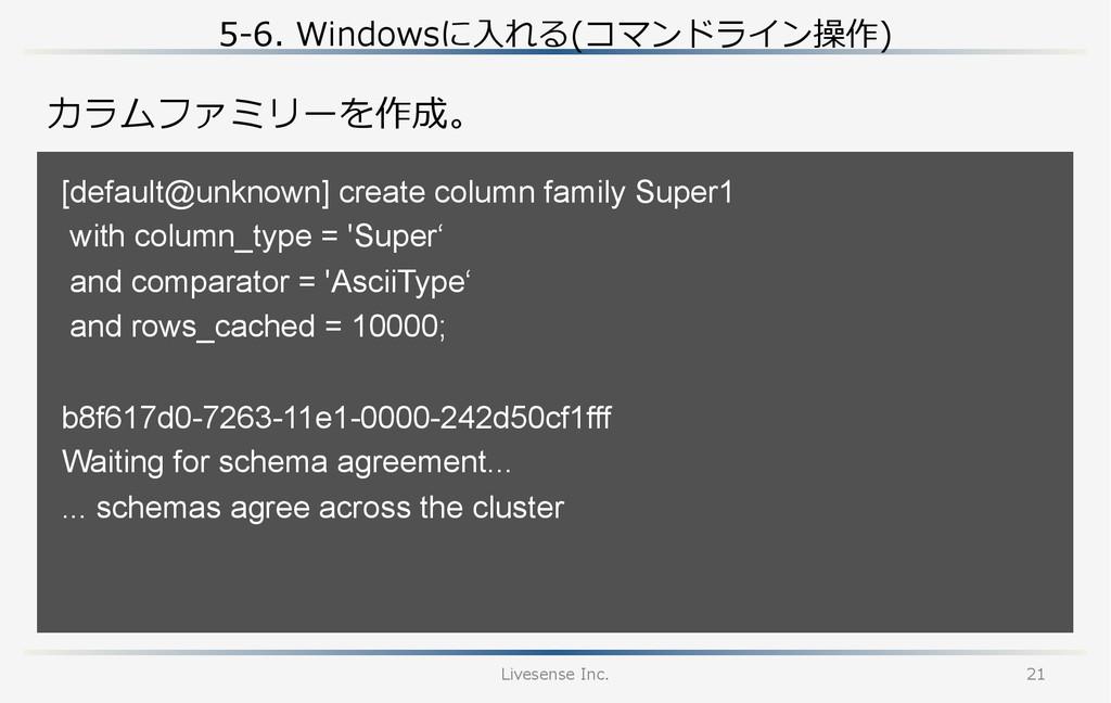 5-‐‑‒6. Windowsに⼊入れる(コマンドライン操作) Livesense Inc...