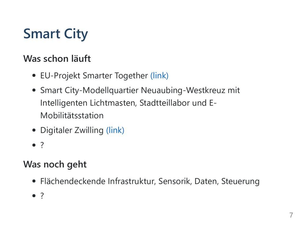 Smart City Was schon läuft EU-Projekt Smarter T...
